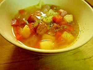 アレンジ可能な具沢山スープ