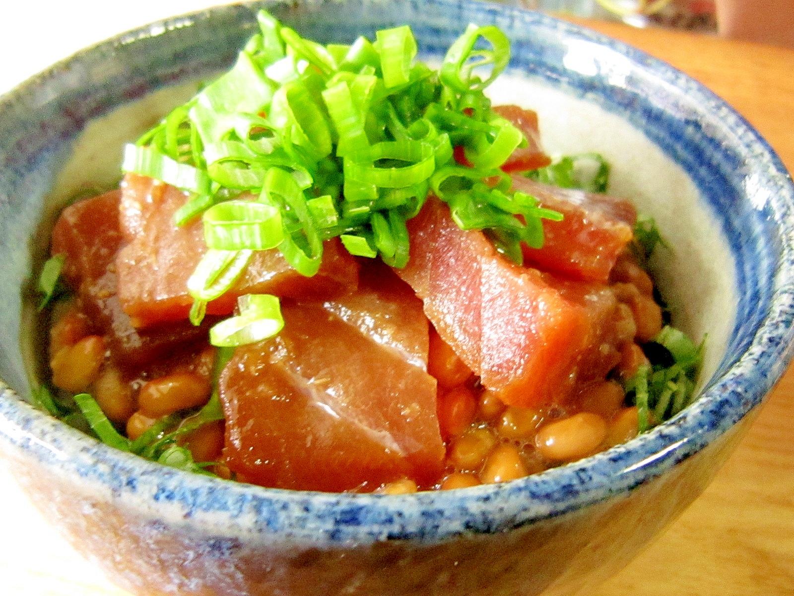 リメイクアレンジ☆づけ鮪の納豆丼