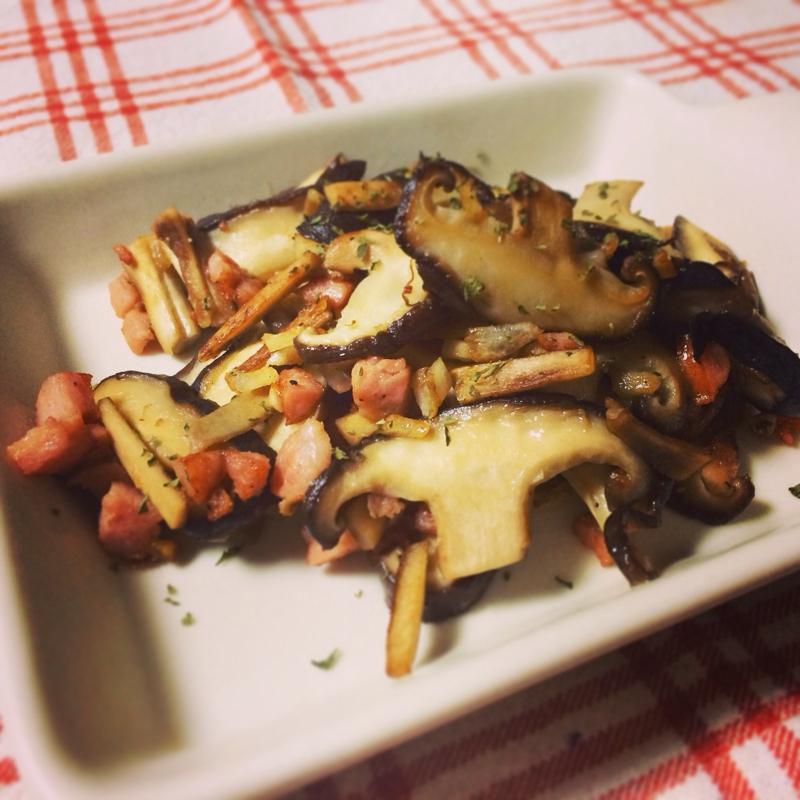 おつまみ^_^椎茸のニンニク焼き