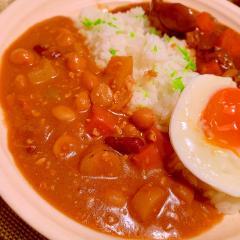 鶏ひき肉と根菜のココナッツ豆カレー
