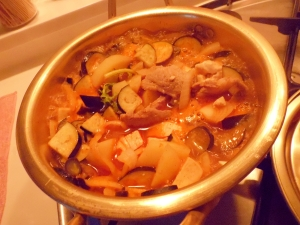 野菜たっぷり 肉豆腐なべ レシピ...