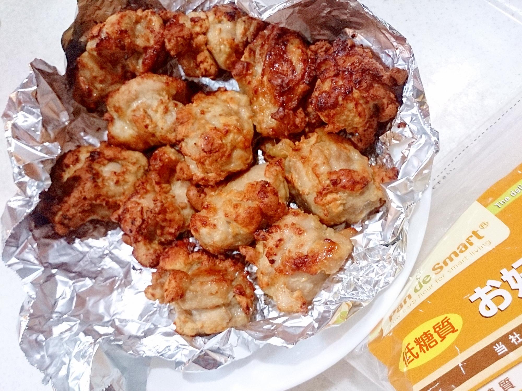 低糖お好み焼きミックス粉で鶏唐揚げ(ノンフライヤー