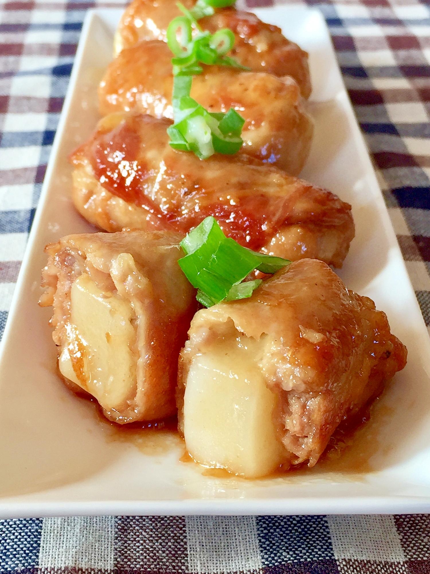 6. 肉巻き餅チーズ