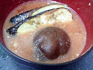 茄子椎茸トマトスープ