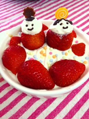 ひな祭り☆いちごの簡単ケーキ