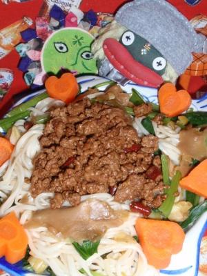 坦々焼き素麺