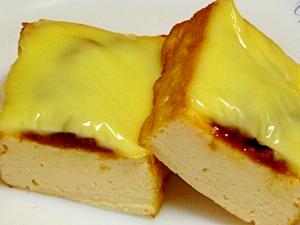 厚揚げのそぼろチーズ焼き