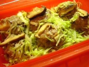 野菜たっぷり、スチームケースで簡単肉団子