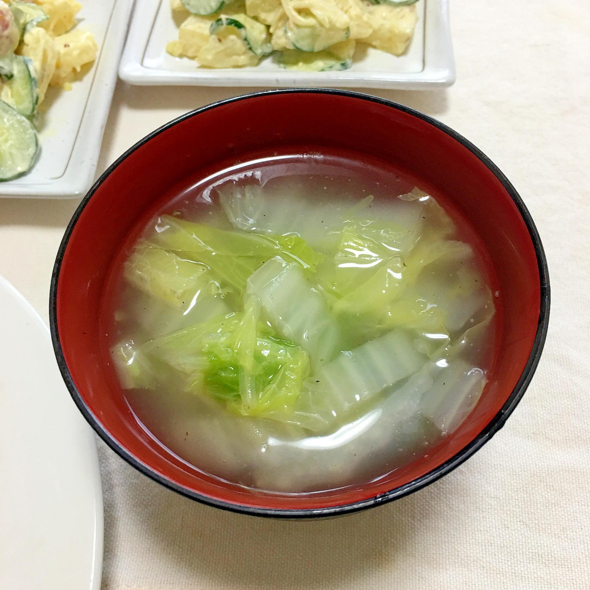 究極に簡単な白菜スープレシピ