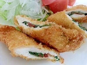 梅肉と大葉の鶏肉はさみ揚げ レシピ・作り方 by Bonbonsita|楽天レシピ