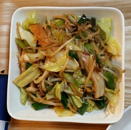 ちくわと野菜のくうすみそ炒め