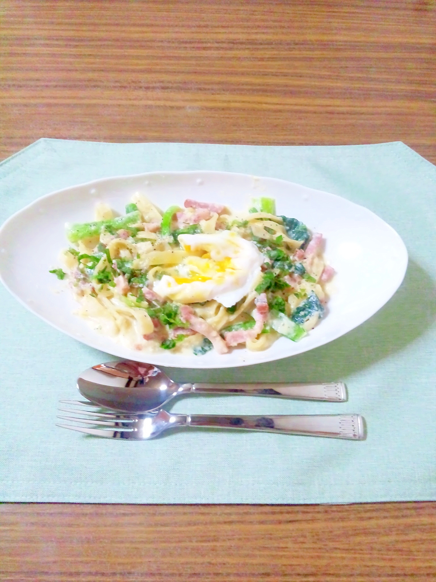 ヨウサマの『タニタ式』ダイエット食カルボナーラ風