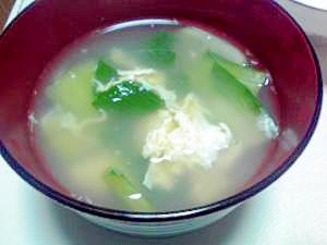 青梗菜入りかきたまスープ