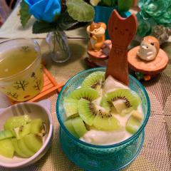 冬瓜とキウイのココナッツ豆乳ポンチ