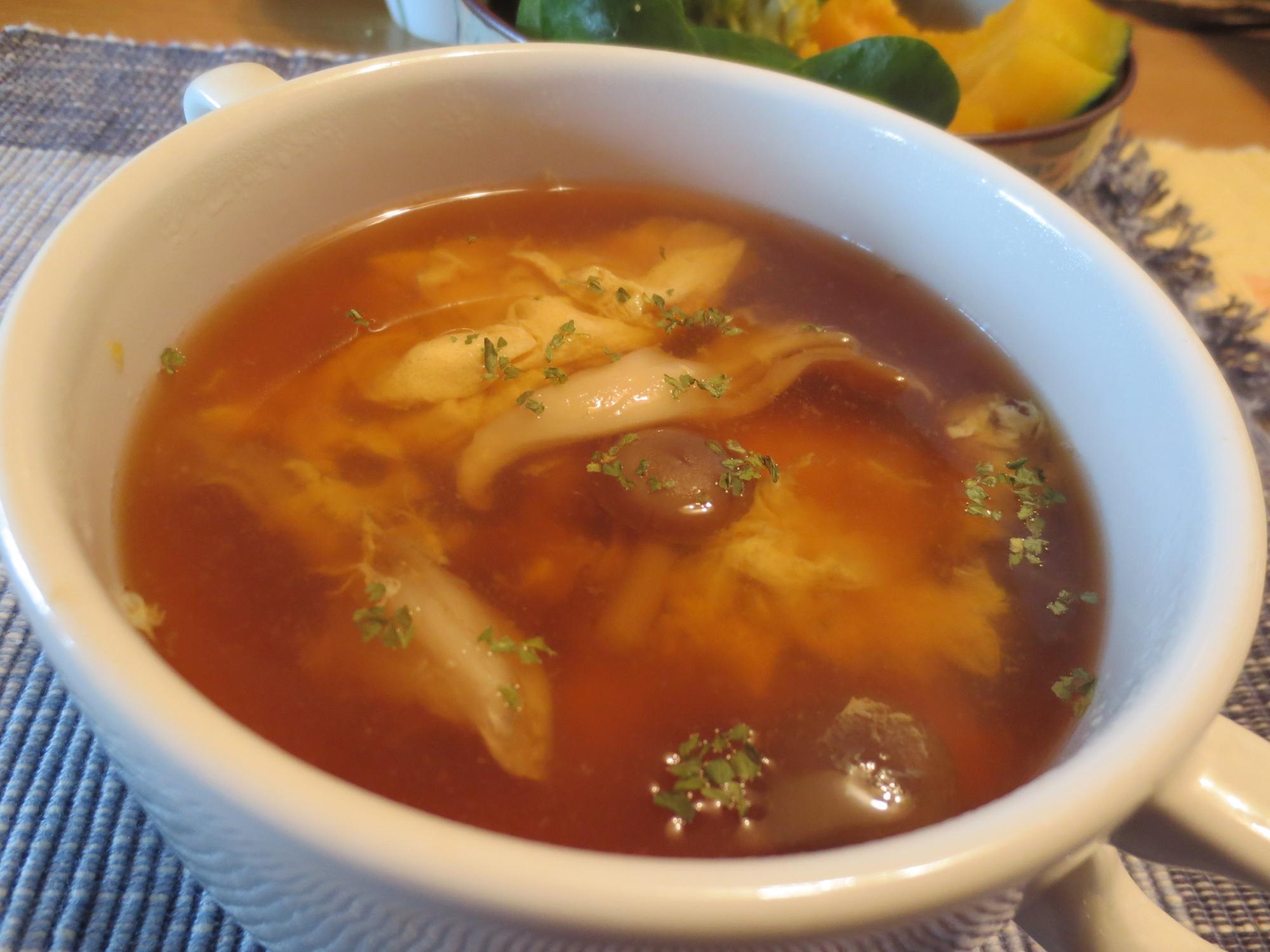 しょうがでポカポカ♪とき卵のスープ★しょうゆ味♪