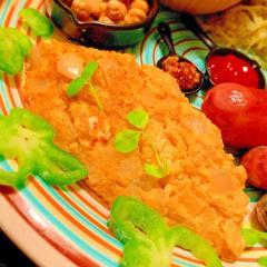 クリームチーズと玉葱のモルトビネガーオムレツ