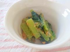 小松菜と柚子胡麻味噌和え