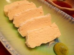 まるで湯葉?冷凍豆腐のお刺身