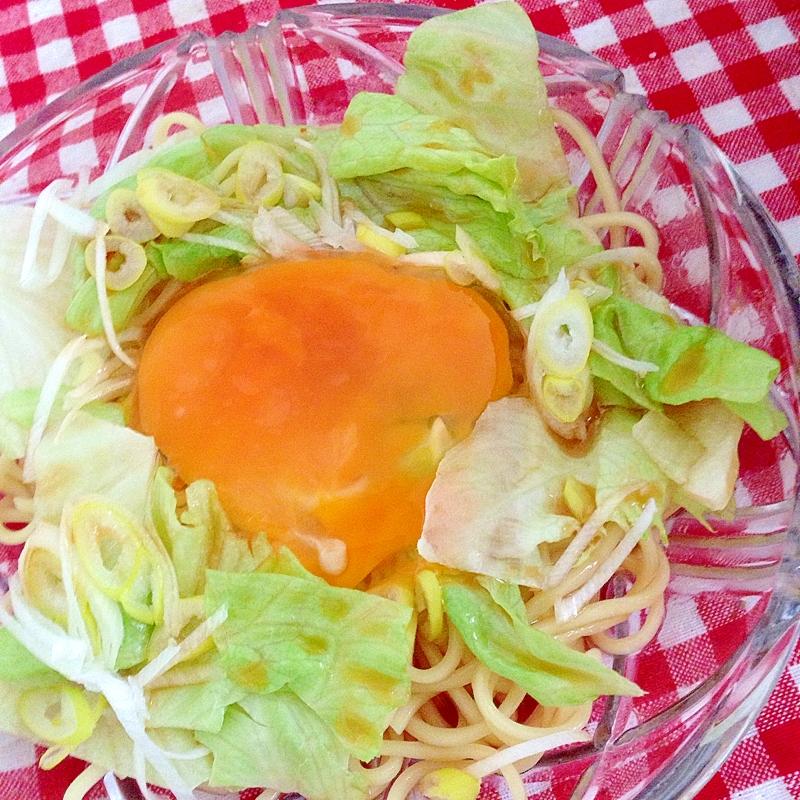 レタスと卵の冷やしラーメン☆