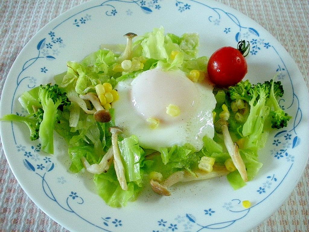 【お手伝いレシピ】☆野菜たっぷり!巣ごもり卵☆