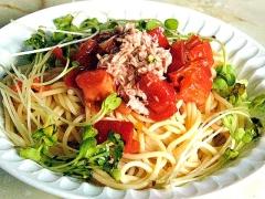 トマトの冷やしパスタ