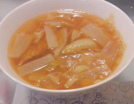 大根とねぎのキムチスープ