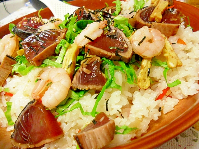 カツオのたたきのちらし寿司