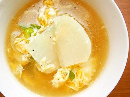 かぶと、ふわふわ卵のスープ♪
