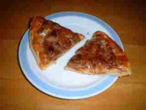 ハンバーグのピザ