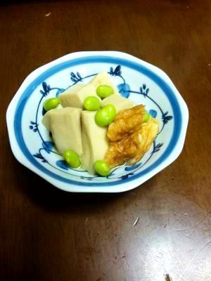 もう一品。高野豆腐と竹輪の煮物