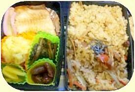 カロリー控えめ五目ご飯、安い材料簡単弁当
