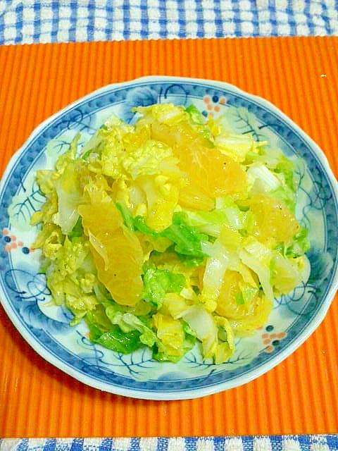 八朔と白菜のサラダ♪