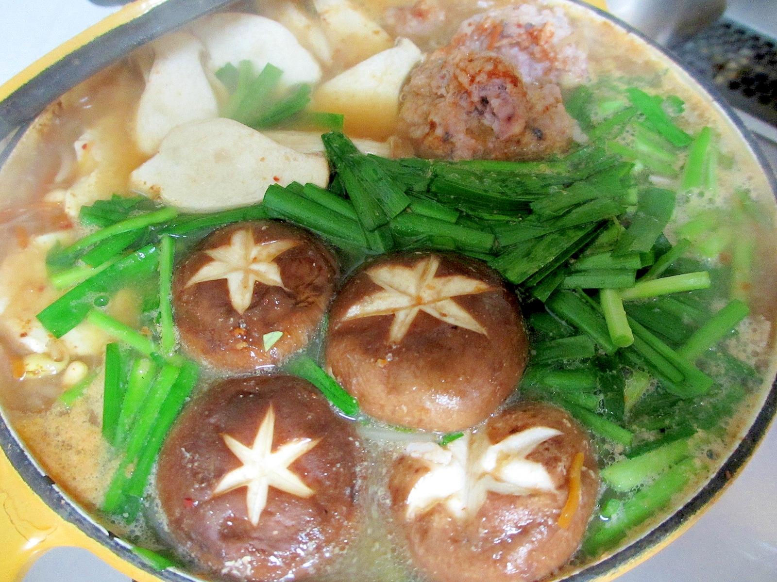 イカ団子キムチ鍋