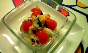 彩り鮮やか!カボチャとツナのマヨネーズサラダ♪
