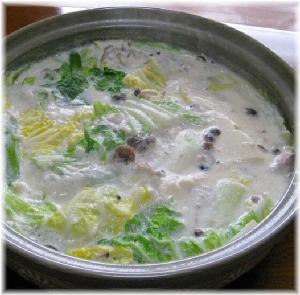 こんな寒い日は「豆乳鍋」でほっこり温まります♪