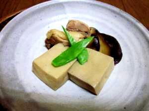 高野豆腐は重宝な食材・・・一品追加のレパートリー