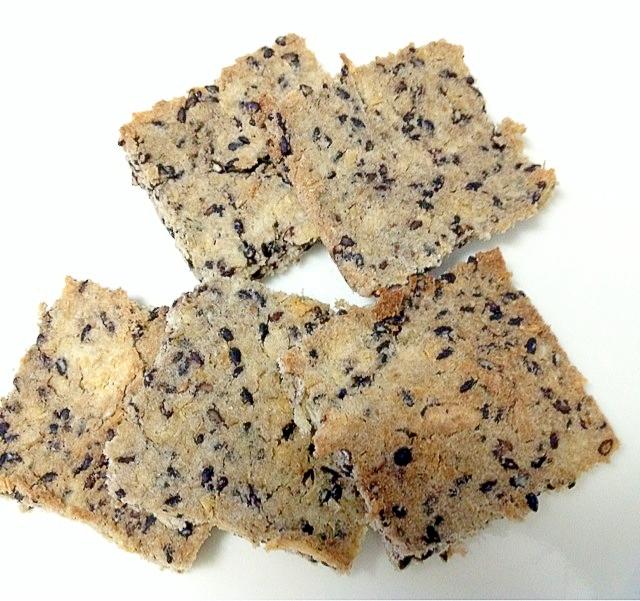 【糖質制限・ダイエット】生おからと黒ゴマのクッキー