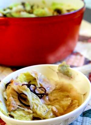 豚白菜の旨ミルフィーユ鍋