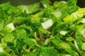 白菜と小豆のスパイスソテー