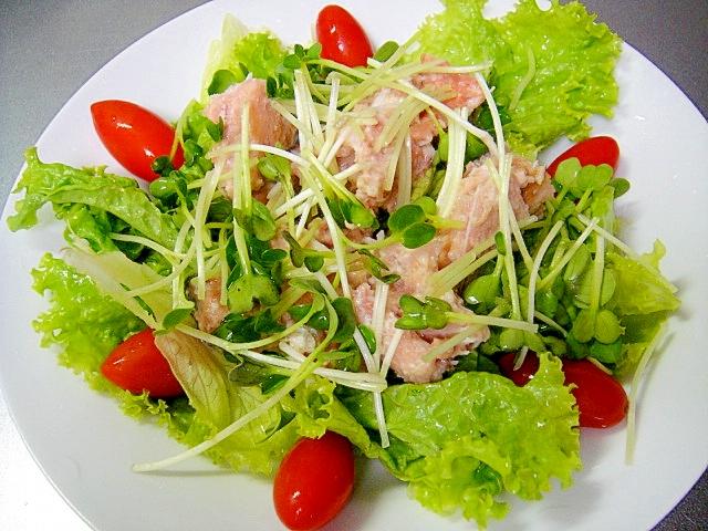 カルシウムたっぷり鮭の中骨サラダ
