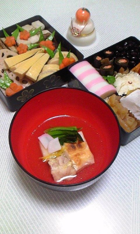 【お雑煮】迎春*関東風*鶏と小松菜の雑煮♪