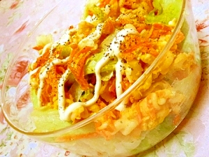 南瓜とクリチとゆで卵の贅沢マカロニサラダ