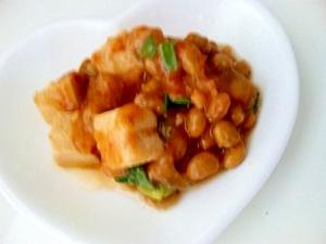 高野豆腐と納豆の麻婆豆腐風