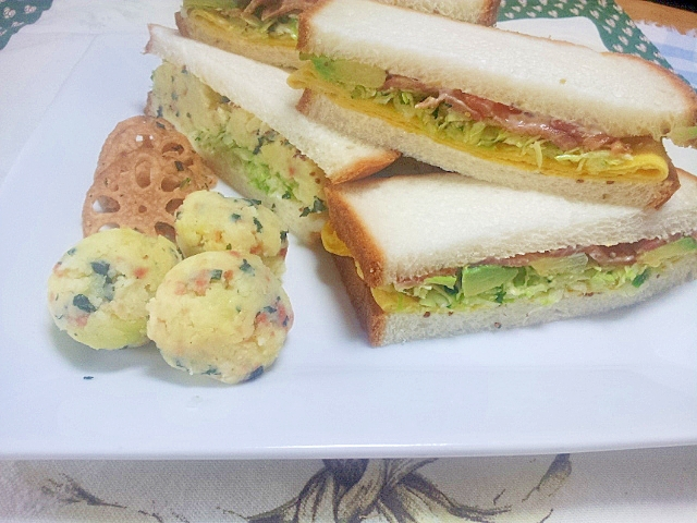 ぱぱっとポテトサラダサンドイッチ