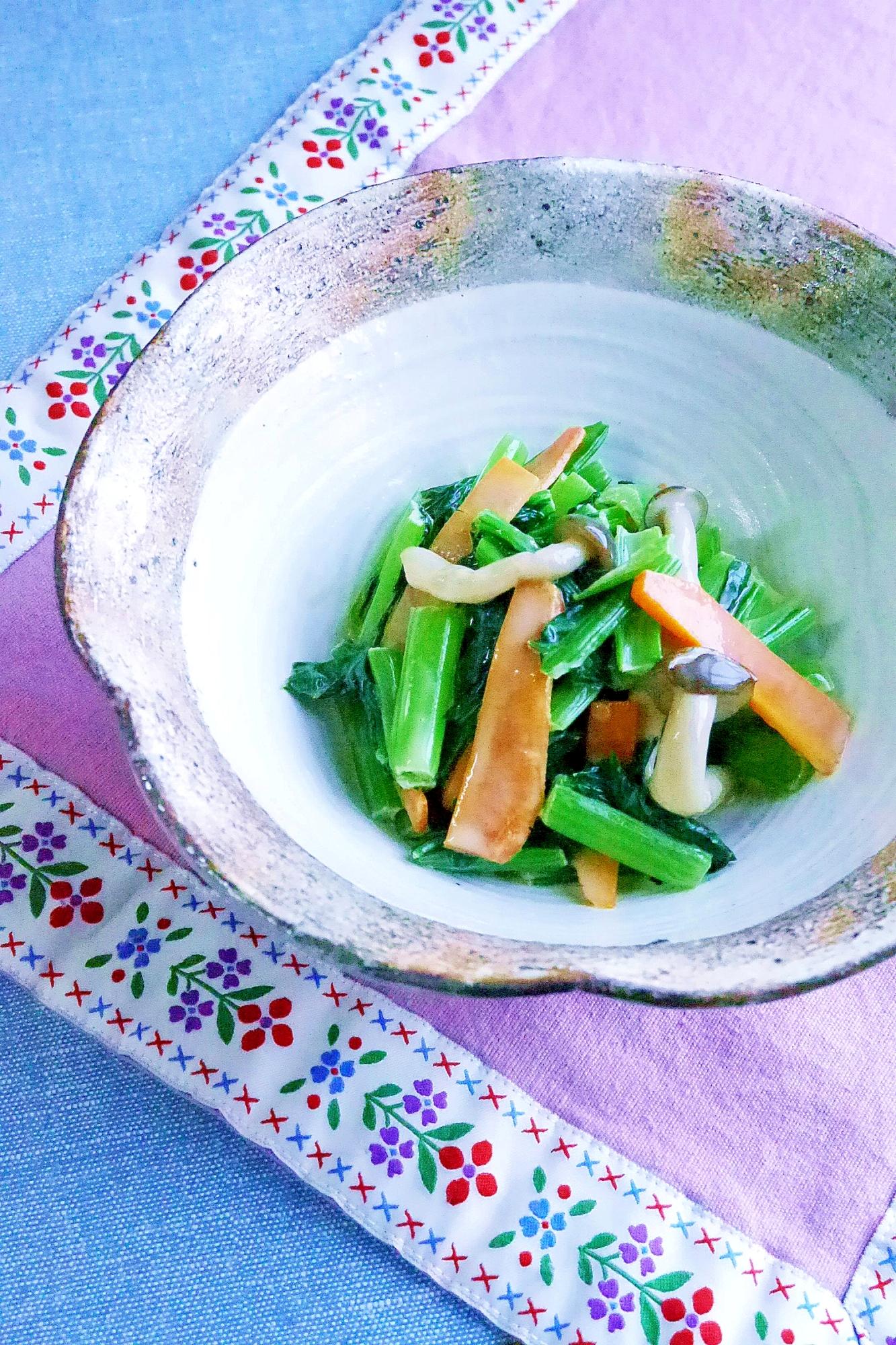 2. やさしい味!彩り野菜で胡麻ペースト和え