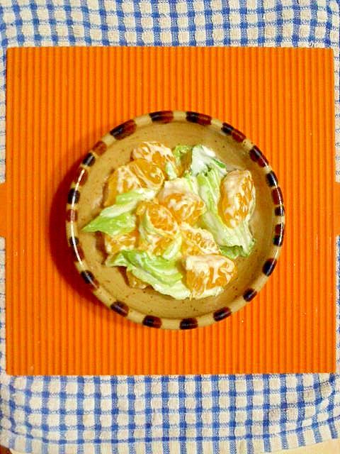 八朔とレタスのヨーグルトサラダ♪