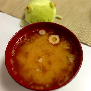 香り抜群★みょうがとちくわの味噌汁
