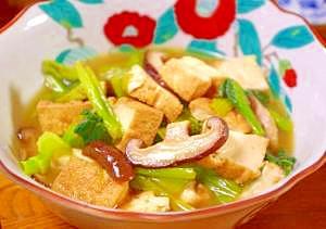 ~あっさり味の簡単~厚揚げと小松菜の煮浸し