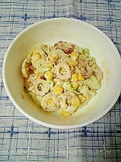 ☆はす芋竹輪の味噌マヨネーズ和え☆