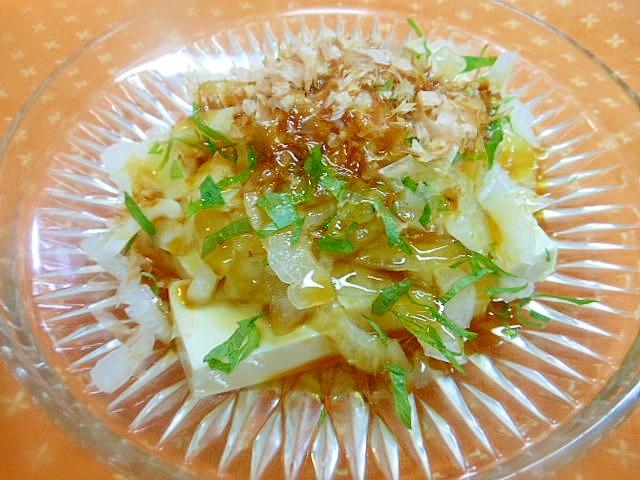 ヘルシー~♪新玉葱と豆腐のサラダ☆